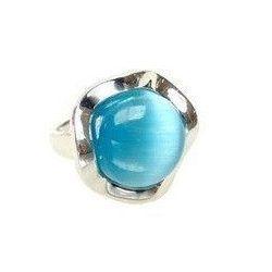 Bague Zircon Bleu Mod. Fleur