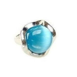 Blue Zirconia Ring Mod. Flower