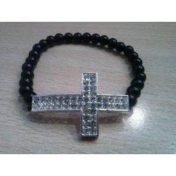 Onyx - Cross Bracelet