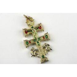 Cruz de Caravaca 5 cms. dorada
