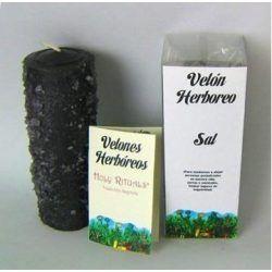 Velón Herbóreo Negro con Sal