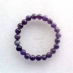 Bracelet Boule 8 mm. Améthyste