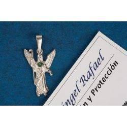 Archangel Raphael Silver Pendant