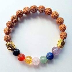7 Chakras - Rudraksha Bracelet