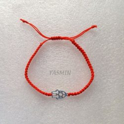 Red Bracelet with Hand of...