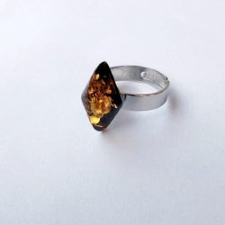 Adjustable Amber Ring