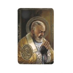 Padre Pio Print with Medal