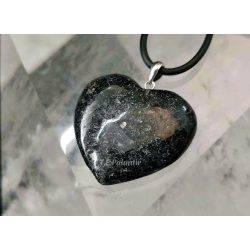 Nuummite Heart Shape Pendant