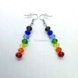 Earrings 7 Chakras Hook...