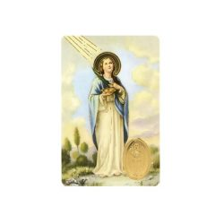 St. Lucy Print with Medal