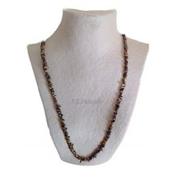 Long Chip Tiger Eye Necklace