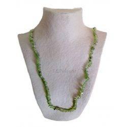 collar chip de olivino largo 90 cms.