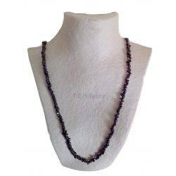 Long Chip Garnet Necklace