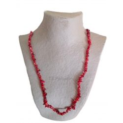 Long Chip Red Coral Necklace