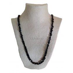 Collier Chip Long Onyx Noir