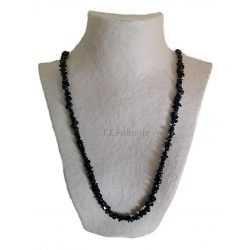 Long Chip Black Onyx Necklace