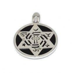colgante templo de cristo plata 1ª ley y ónix negro