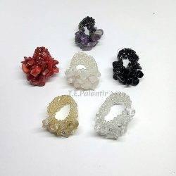 anillos chip minerales variados