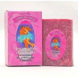 Jabón amarrado y claveteado, pastilla de 80 gr. para rituales y peticiones de amarre.