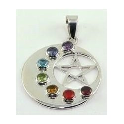 Moon-Pentagram Chakra Pendant