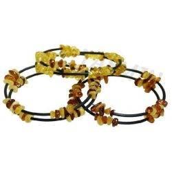 Amber Spiral Rubber Bracelet